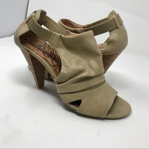 Unlisted Open Toe Heels Kenneth Cole Taupe 9.5